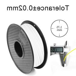 White 1.75mm PLA 3D Printer Filament 1KG/2.2lbs Dimensional