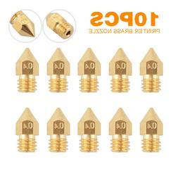 10Pcs 0.4mm MK8 Extruder Nozzle Head For 3D Printer Makerbot