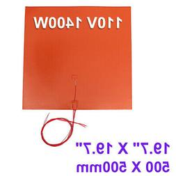 1400W 110V 19.7'' X 19.7'' 500 X 500mm 3D Printer Heated Bed