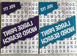 2 Large Print Word Search Puzzles Book Lot Word-Find Games B