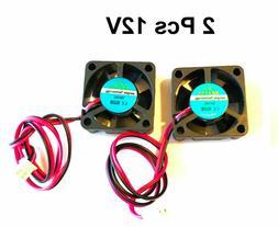 2 Pcs 12V 30mm Cooling Computer Case Fan 3010 30x30x10mm DC