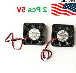 2 Pcs 5V 12V 24V 40mm Cooling Computer Fan 4010 40x40x10mm D