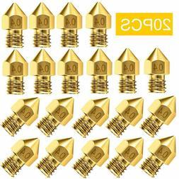 20pcs 3d printer nozzle accessory mk8 0
