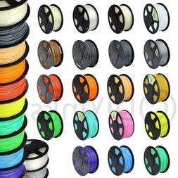 3D Printer Filament 1.75mm 3mm PLA ABS 1kg 2.2lb RepRap Make
