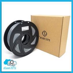 Silver ZYLtech PLA 3D printer filament 1.75 mm 1 kg 2.2 lbs
