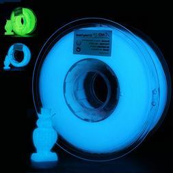 AMOLEN 3D Printer Filament, PLA 1.75mm, Glow In the Dark Blu