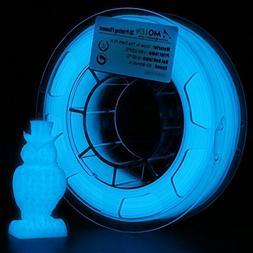 3D Printer Filament PLA, Glow in The Dark Blue  Filament 1.7