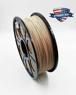 3D Printing Wood PLA Filament 1kg/2.2lb 1.75mm RepRap Marker