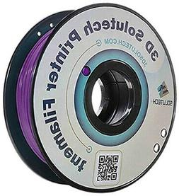 3D Solutech 3DSPLA175RPL Real Purple 3D Printer PLA Filament