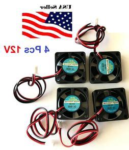 4 Pcs 5V 12V 24V 30mm Cooling Computer Fan 3010 30x30x10mm D