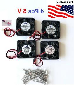 4 Pcs 5V 12V 24V 40mm Cooling Computer Fan 4010 40x40x10mm D