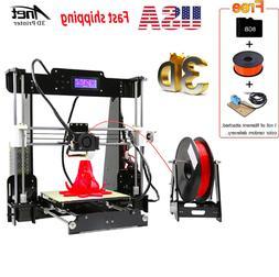 Upgraded Anet A8 Auto Self-leveling 3D Printer Reprap i3 DIY