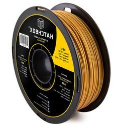 HATCHBOX ABS 1.75 mm 3D Printer Filament in Gold, 1kg Spool