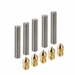 Anet A8 3D Printer Parts - 5x M6 x 30mm MK8 Nozzle Throat +