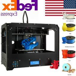 Black 3D Printer for Makerbot Replicator 2 Dual Extruders +