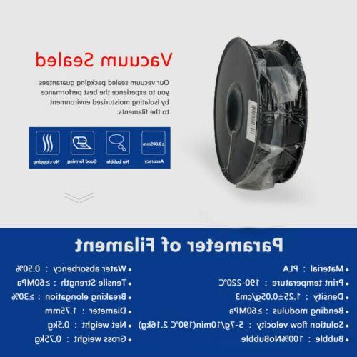1.75mm PLA Filament +/-0.03mm Black