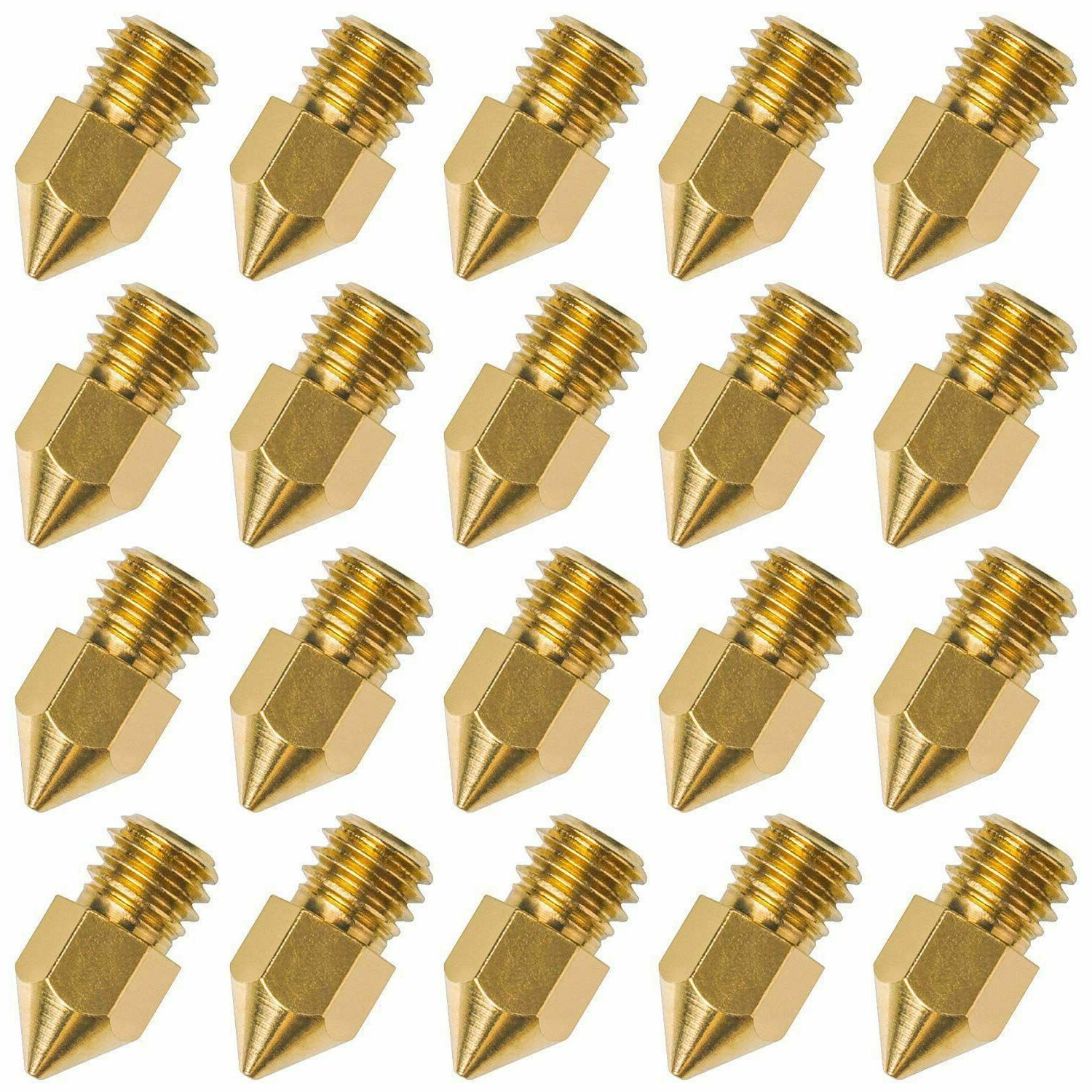 20 pcs 3d printer nozzle 0 4mm