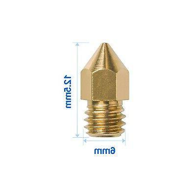 Brand New 3D Printer Nozzle MK8 Extruder Head for Creality