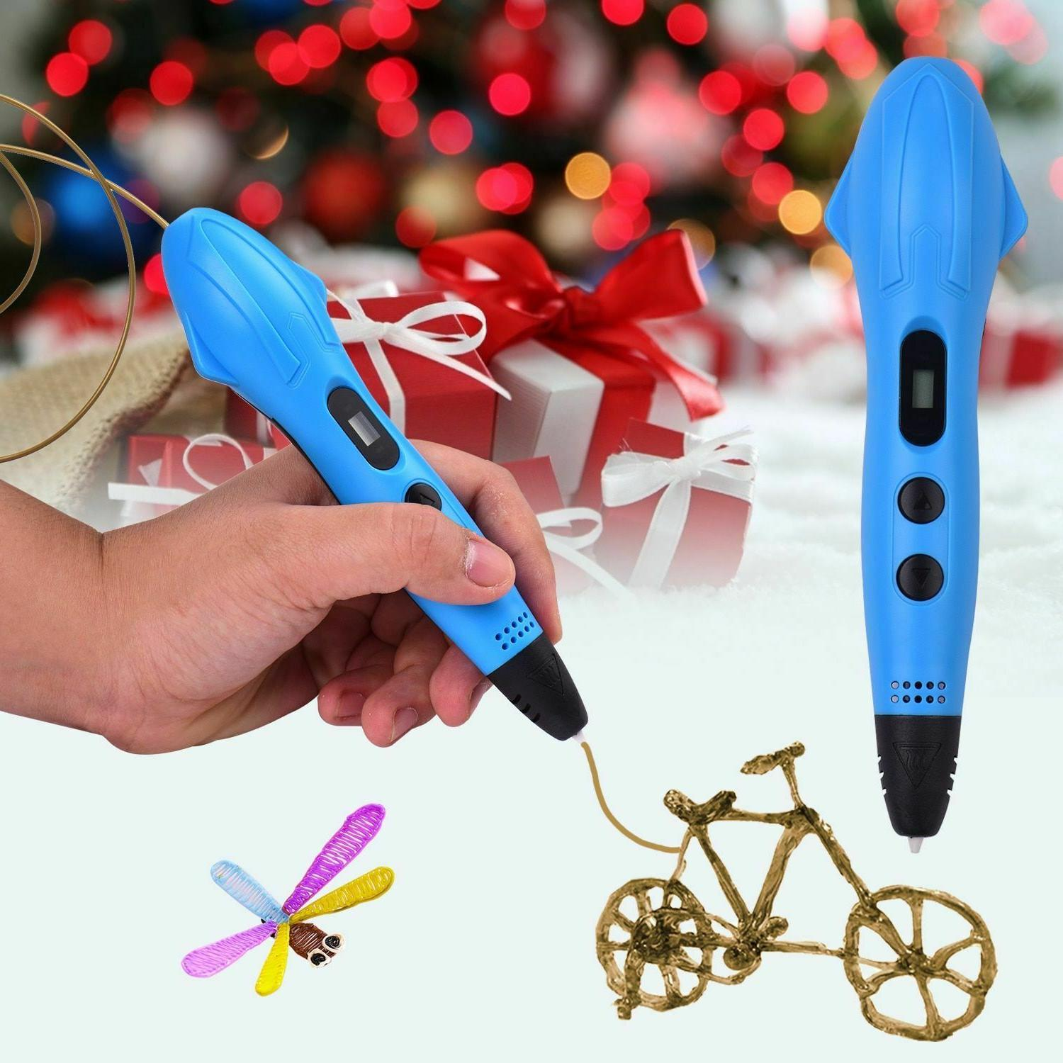 3D Drawing Printer Pens Non-Clogging Adjustable Speed LCD Sc