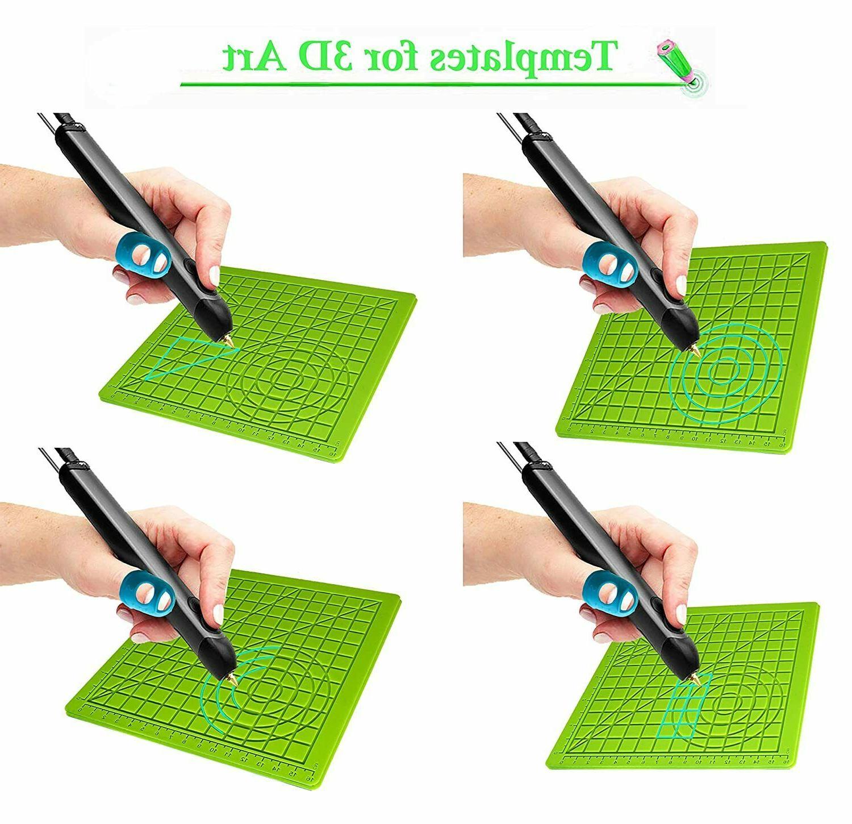3D Pen Mat Mat with Finger Caps