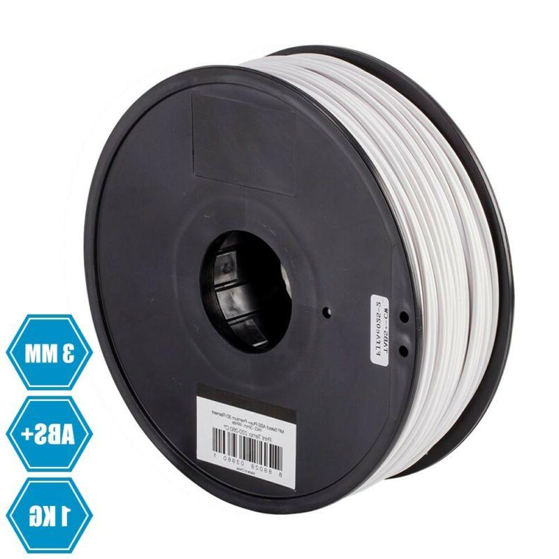 3d printer filament 3mm abs plus white