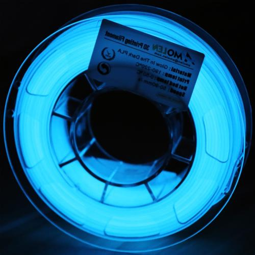 AMOLEN 3D Printer Filament, Glow in The Dark Blue PLA Filame