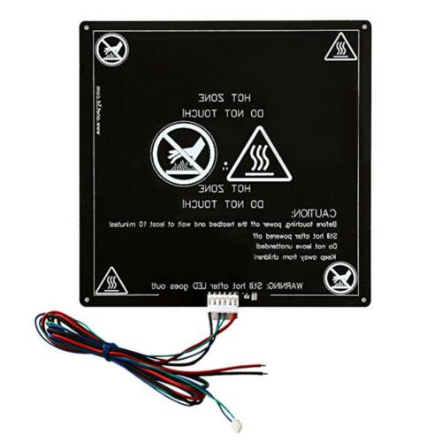 3D Printer Aluminum Heated Bed Build Plate with Wire  220*22