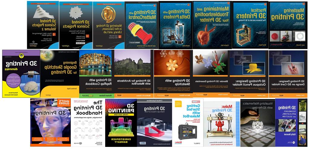 3d printer printing book library collection bundle