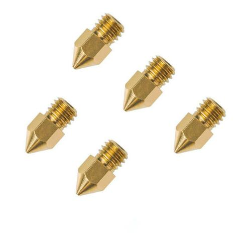 5pcs 0.4mm Copper Extruder Nozzle For Creality CR-10 Ender 3