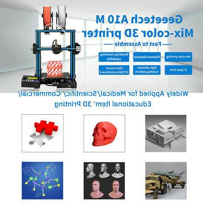 Geeetech 3D 2-In-1 Mix-Color Printing Size Frame