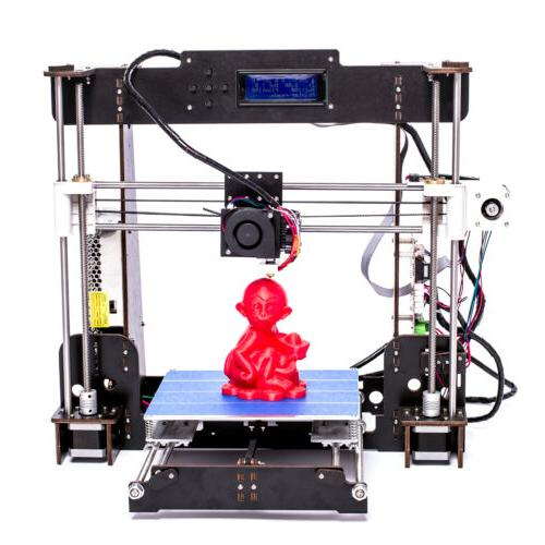 A8 Printer High Precision Reprap Upgraded Wooden LCD2004