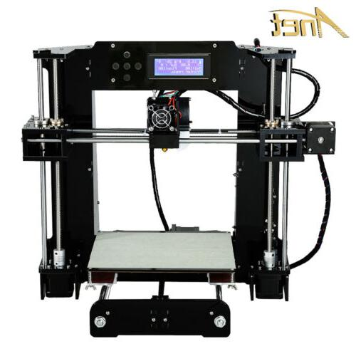 a8 3d printer self assembly black desktop