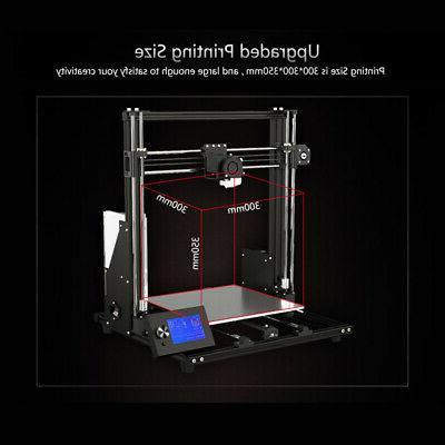 Anet A8 Plus Upgraded DIY 3D 300*300*350mm 10M filament