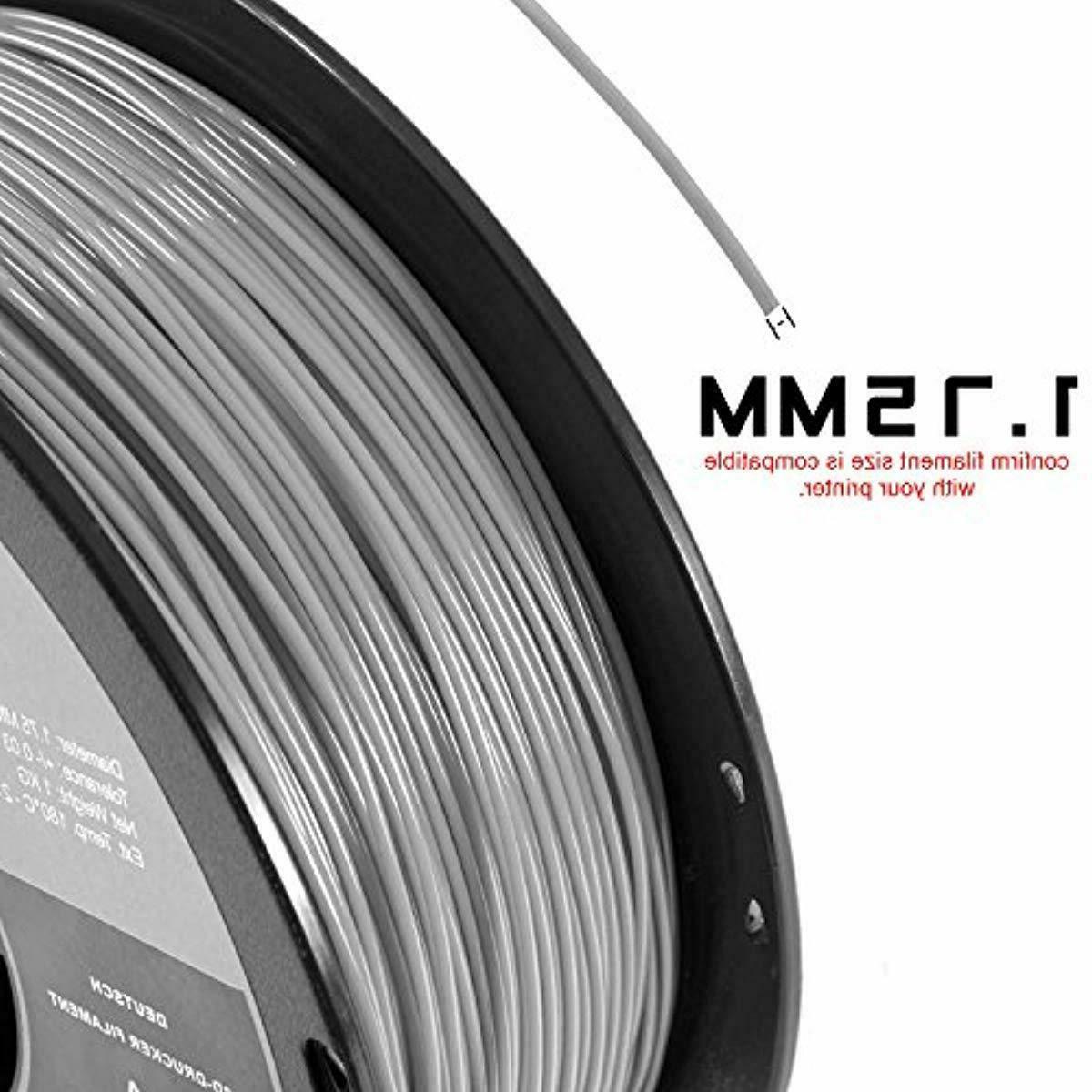 HATCHBOX PLA Filament, Dimensional Accuracy 0.03 mm, Spool,