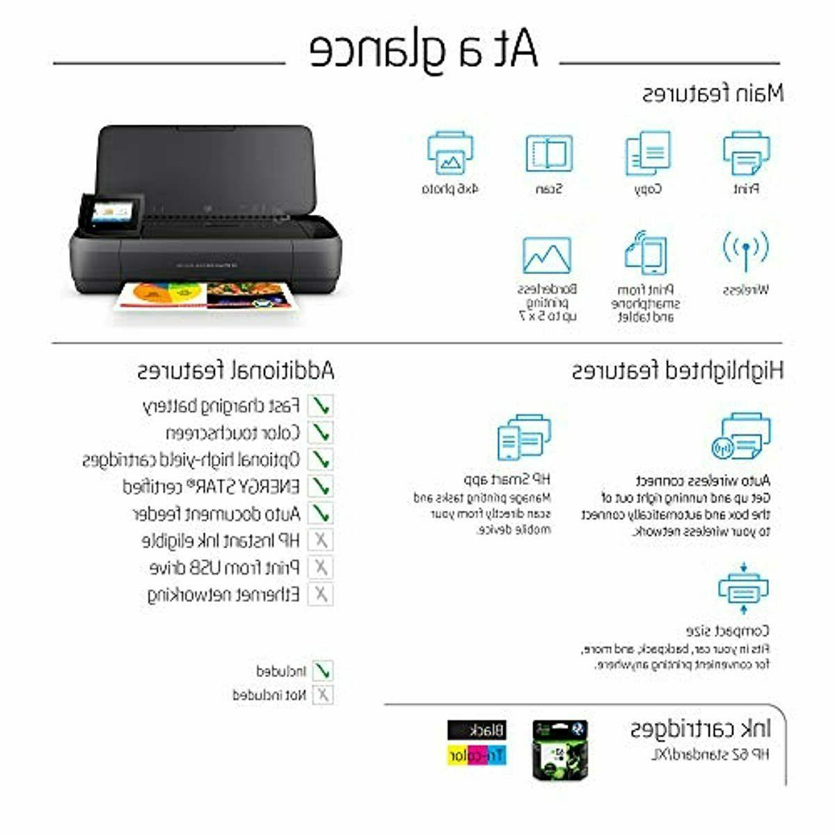 HP OfficeJet All-in-One Portable with Wireless & Printing