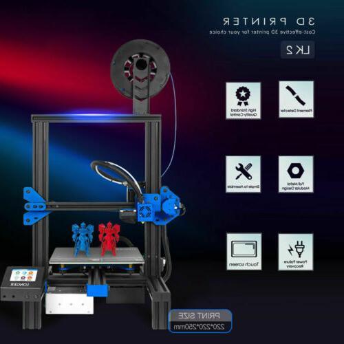 "Longer DIY Kit 2.8"" Touch Screen 220x220x250mm Printer"