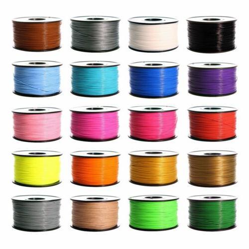 3D Printer Filament 1.75mm ABS PLA 1kg 2.2lb multiple Color