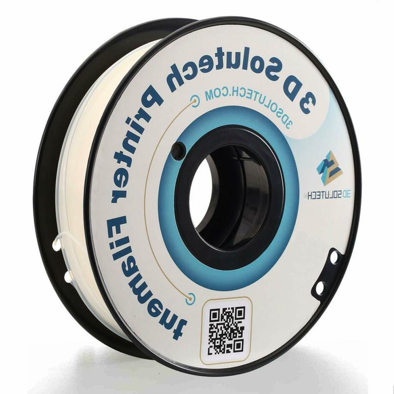 3D Solutech Natural Clear 1.75mm 3D Printer PLA Filament, Di