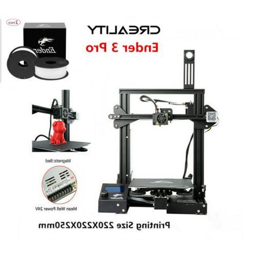 Creality Ender 3 Pro 3D + PLA 24V 220X220X250mm US