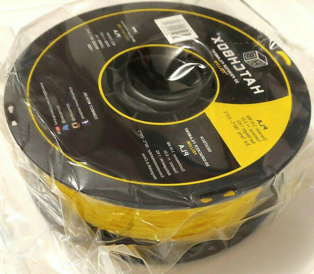 HATCHBOX PLA Printer Filament,Dimensional Accuracy+/- 0.03mm,1kg Spool,3.00mm