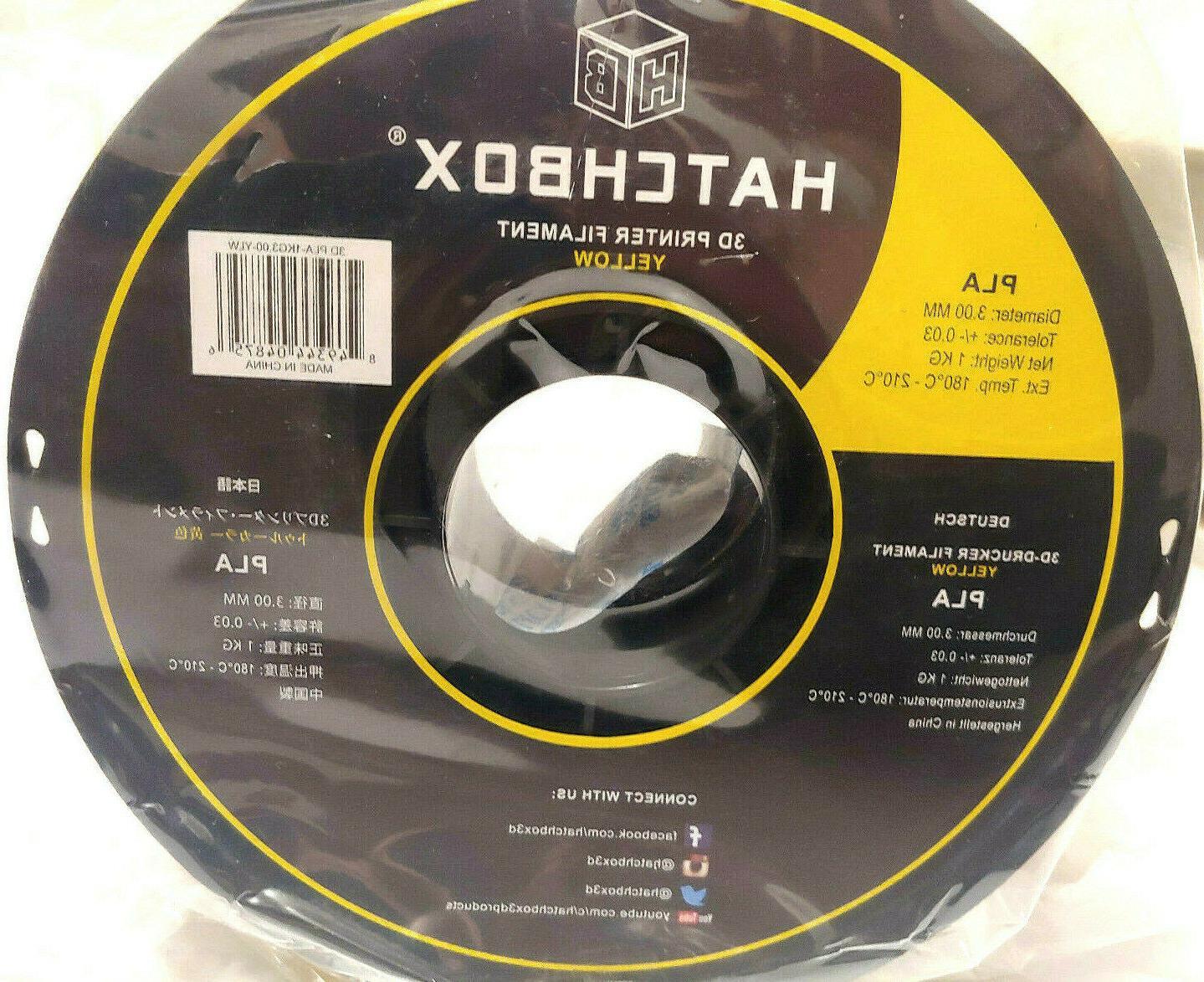 HATCHBOX PLA Filament,Dimensional Spool,3.00mm