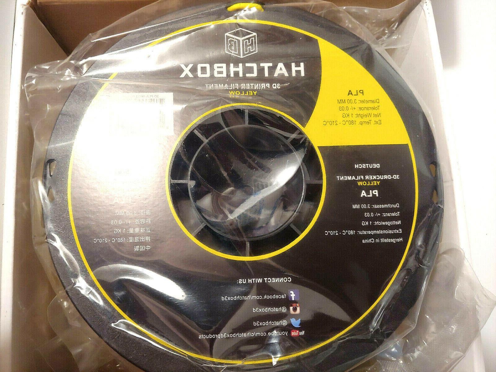 HATCHBOX Printer Filament,Dimensional Accuracy+/- Spool,3.00mm