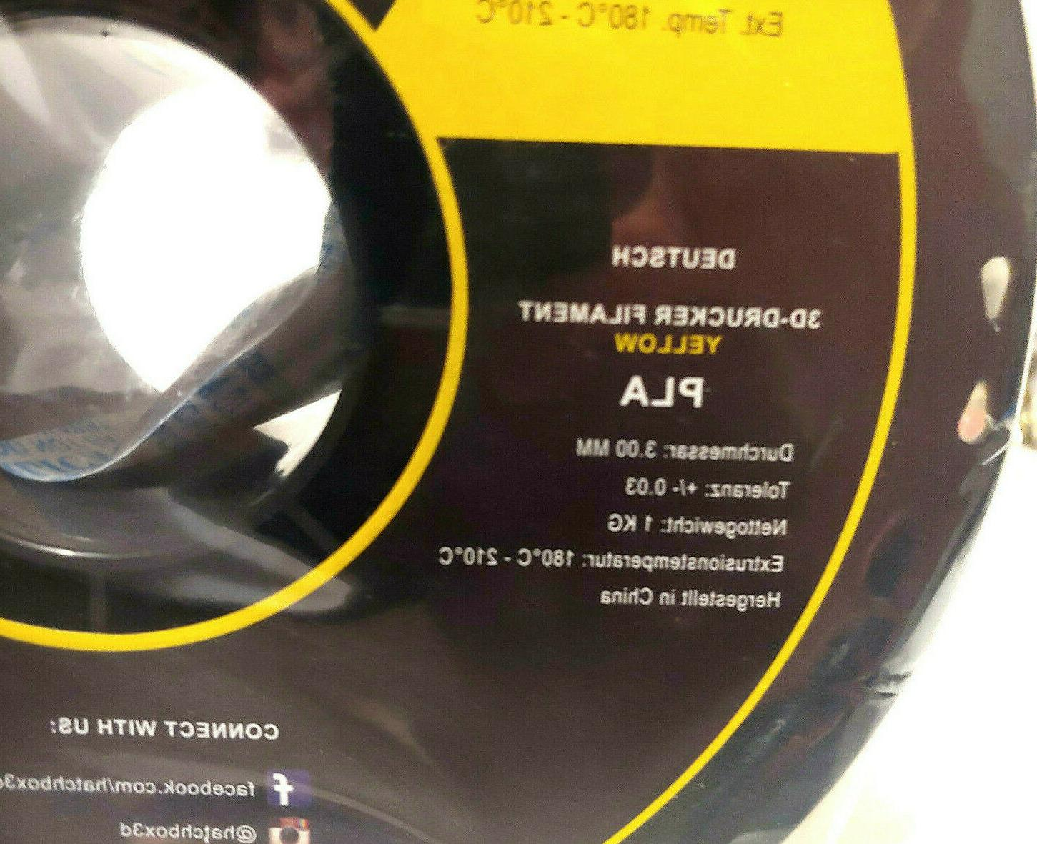 HATCHBOX 3D Filament,Dimensional Accuracy+/-