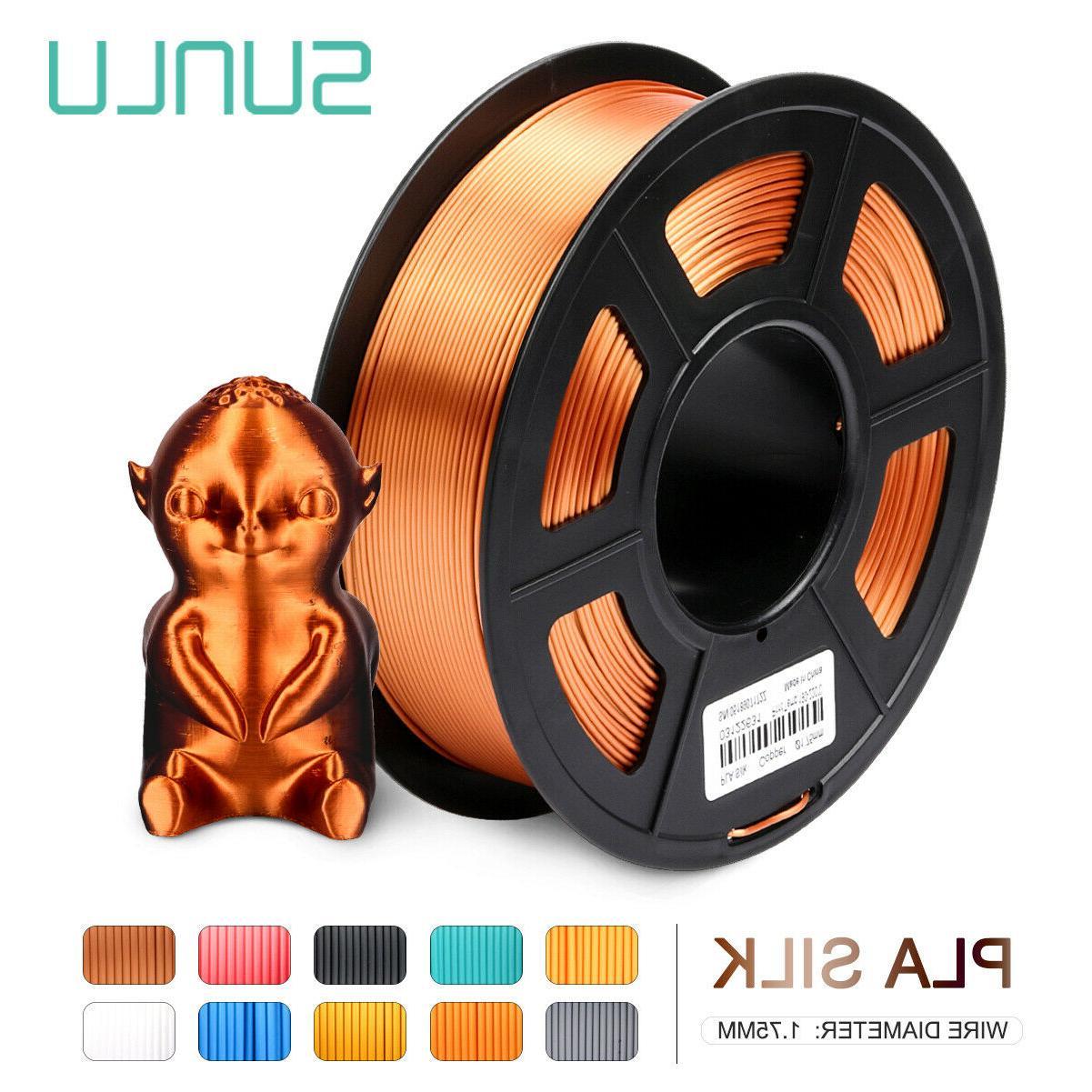 SUNLU Hot SILK PLA 3D Printer Filament 1.75mm 1KG/2.2lb Spoo