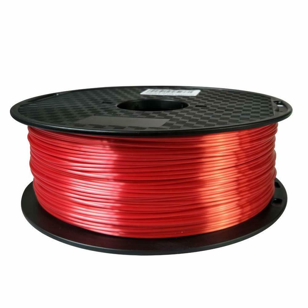 pla silk red filament 1 75mm 3d