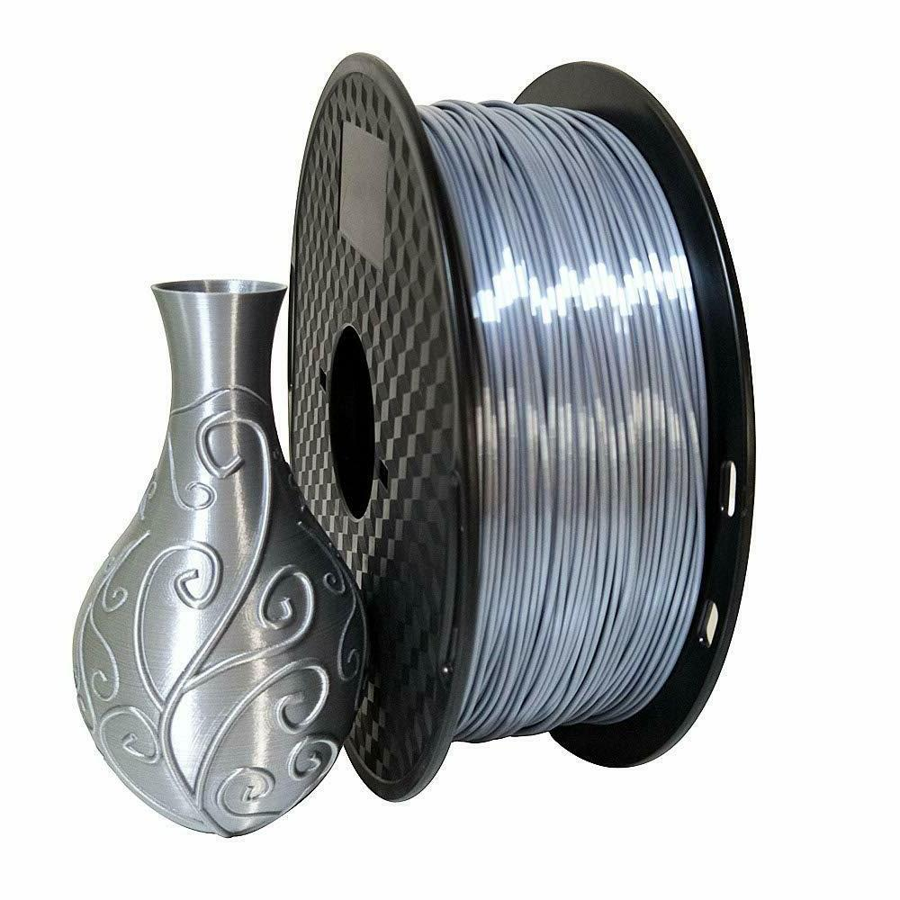pla silk silver filament 1 75mm 3d