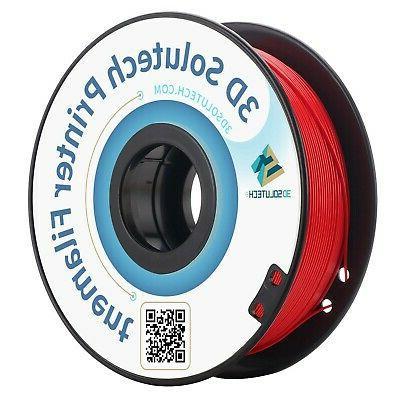 real red 3d printer pla filament 1