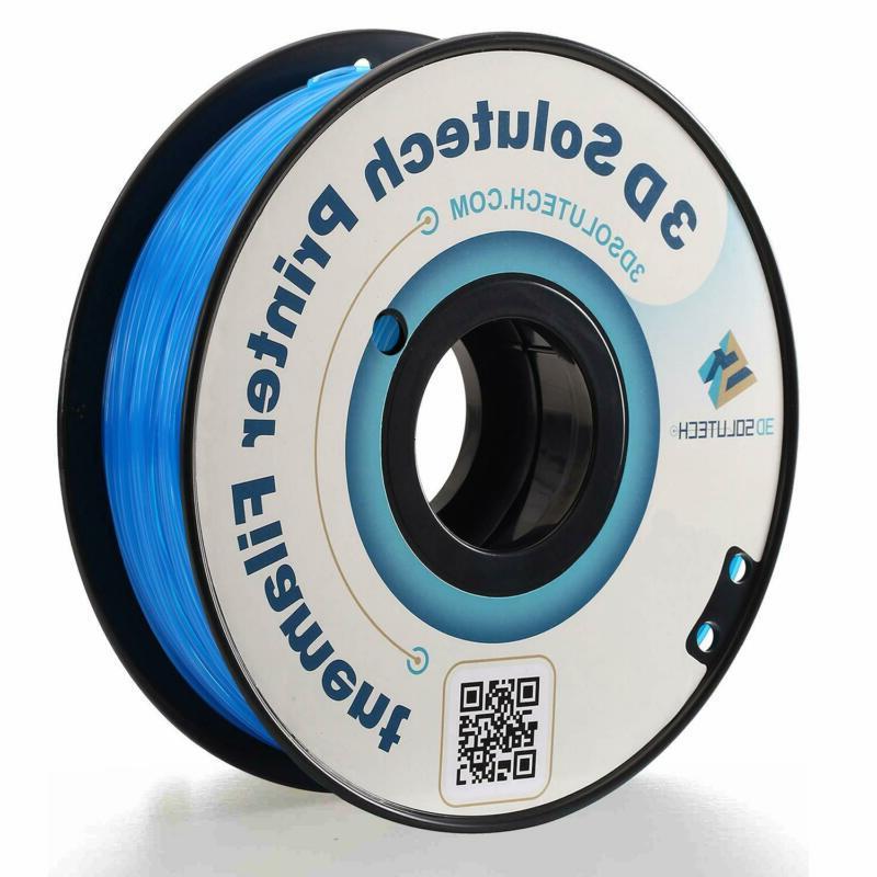 3D Solutech See Through Aqua Blue 3D Printer PLA Filament 1.