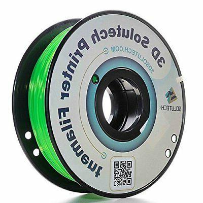 3D Solutech See Through Green 1.75mm PETG 3D Printer Filamen