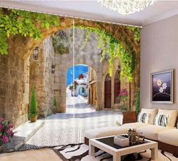 Leisurely Multi Arch 3D Curtain Blockout Photo Printing Curt